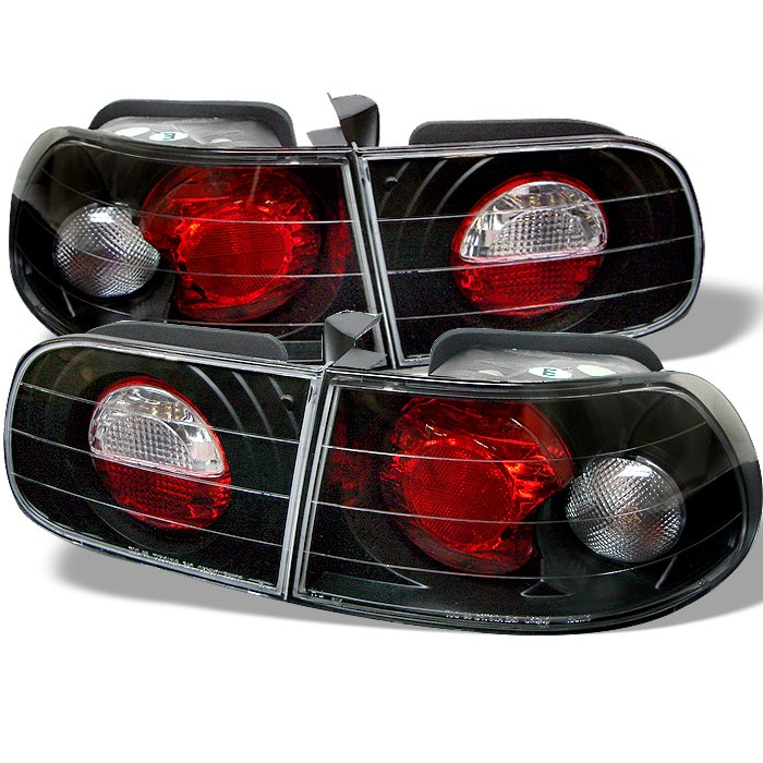 Spyder 3Dr Altezza Black Tail Lights Honda Civic 92-95 - ALT-YD-HC92-3D-BK