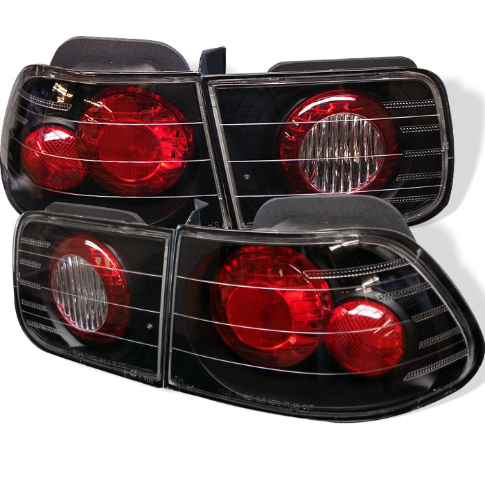 Spyder 2Dr Altezza Black Tail Lights Honda Civic 96-00 - ALT-YD-HC96-2D-BK