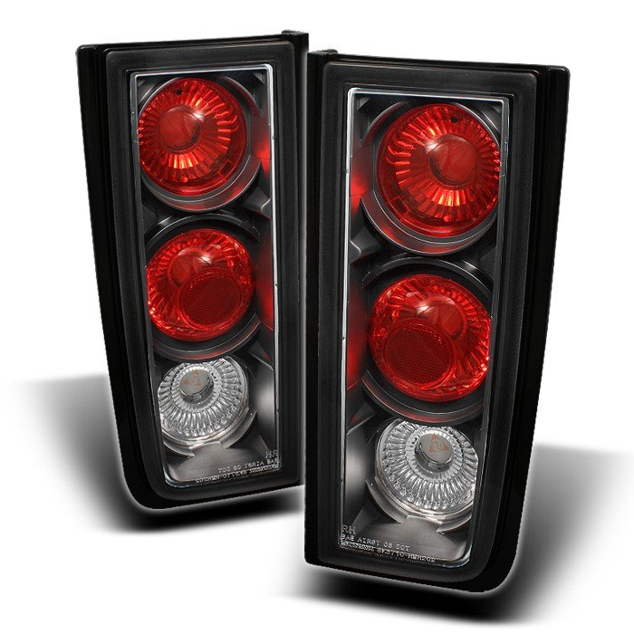 Spyder Altezza Black Tail Lights Hummer H2 01-05 - ALT-YD-HH2-BK