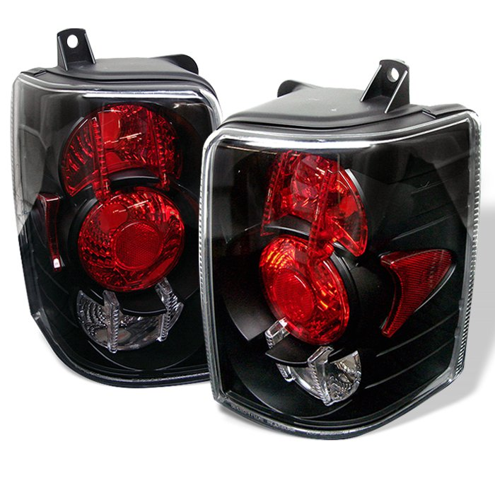 Spyder Altezza Black Tail Lights Jeep Grand Cherokee 93-98 - ALT-YD-JGC93-BK
