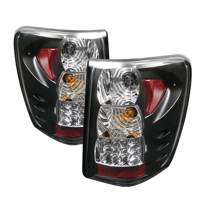 Spyder LED Black Tail Lights Version 2 Jeep Grand Cherokee 99-04 - ALT-YD-JGC99-LED-BK-G2