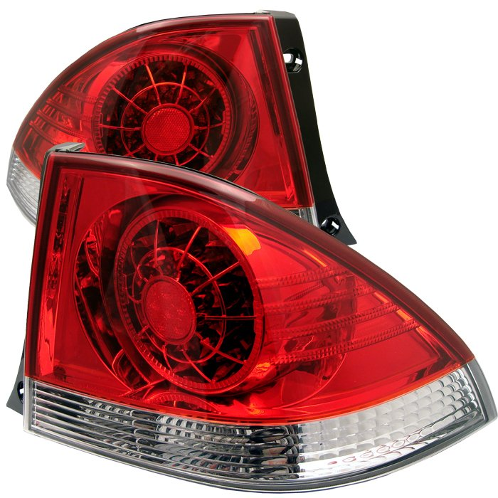 Spyder LED Red/Clear Tail Lights Lexus IS 300 01-03 - ALT-YD-LIS300-LED-RC