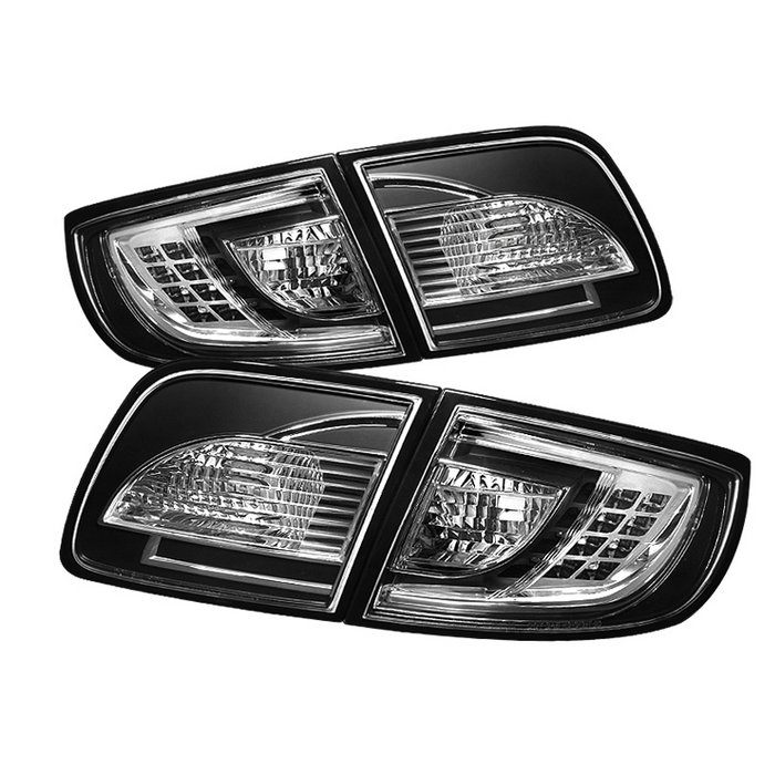 Spyder 4Dr Sedan Non Hatchback LED Black Tail Lights Mazda 3 03-08 - ALT-YD-M303-LED-BK
