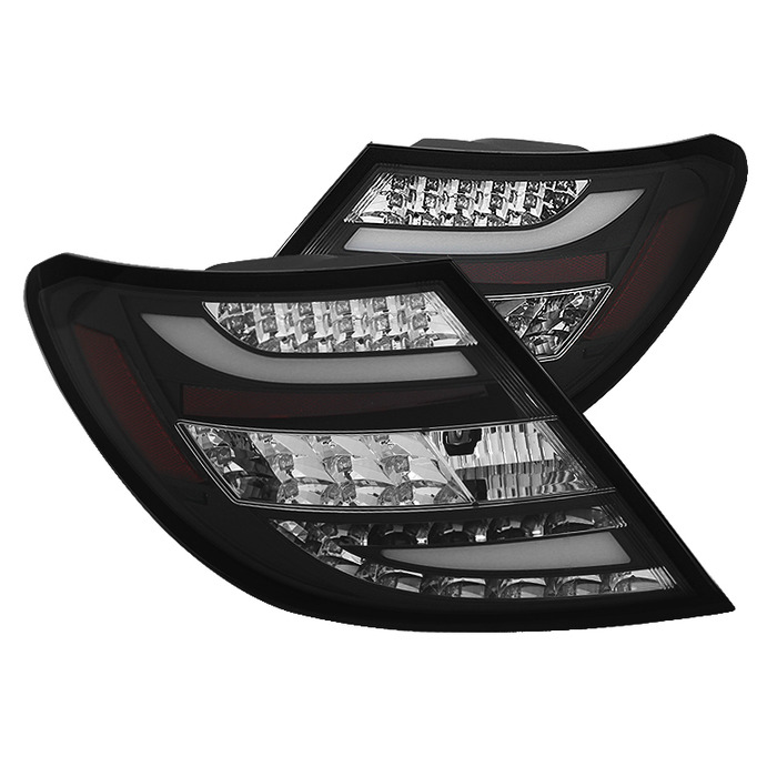 Spyder Auto Black LED Taillights Mercedes Benz W204 C63 AMG with LED Lights  11-14