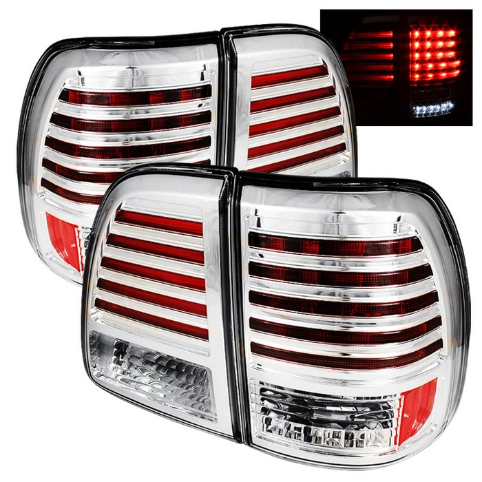 Spyder LED Chrome Tail Lights Toyota Land Cruiser 98-05