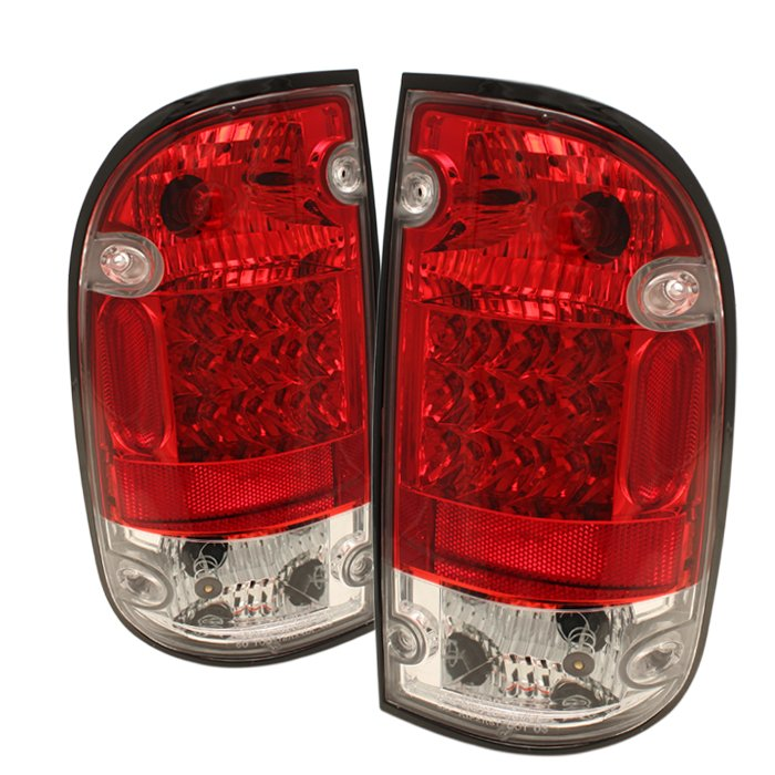 Spyder LED Red/Clear Tail Lights Toyota Tacoma 95-00 - ALT-YD-TT95-LED-RC