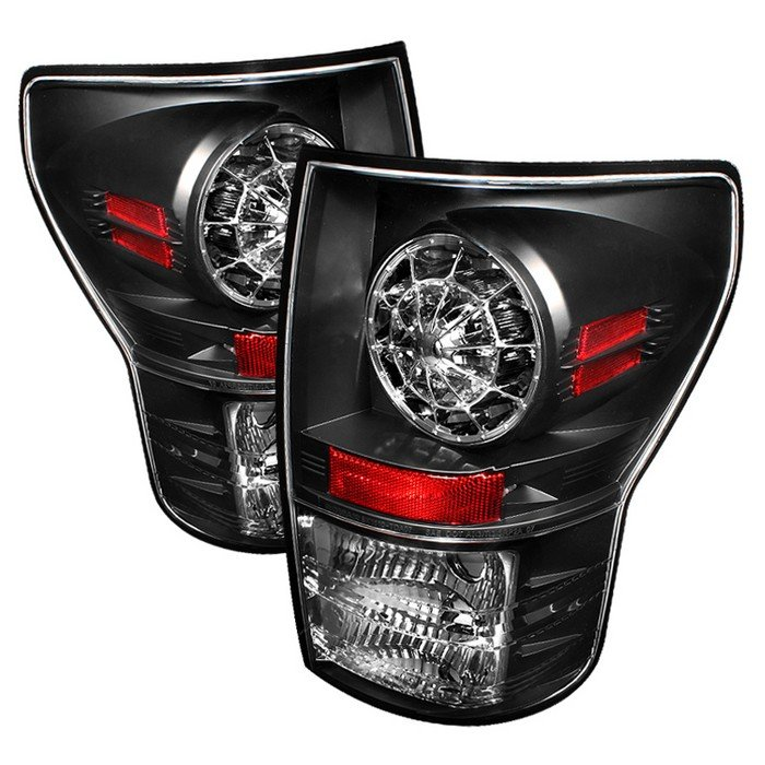 Spyder LED Black Tail Lights Toyota Tundra 07-09 - ALT-YD-TTU07-LED-BK
