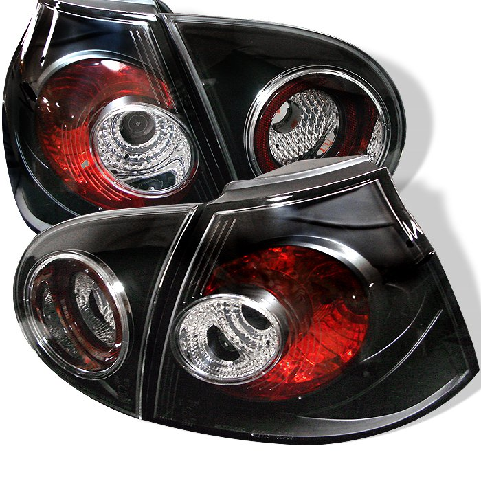 Spyder Altezza Black Tail Lights Volkswagen Golf V 06-08 - ALT-YD-VG03-BK