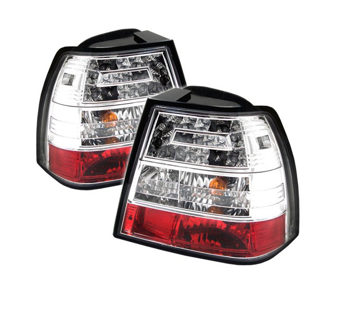 Spyder LED Chrome Tail Lights Volkswagen Jetta 99-04