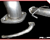 Image of AMS 3 Inch Stainless Steel Downpipe for OEM Turbo Mitsubishi Evolution VIII IX 03-07