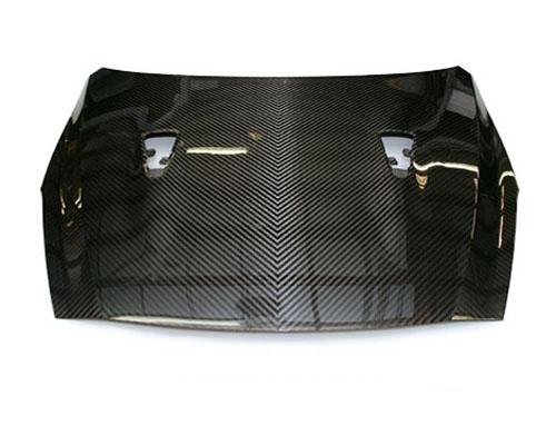 Image of AMS Performance Carbon Fiber Hood 2x2 V-Weave Nissan GT-R R35 09-14