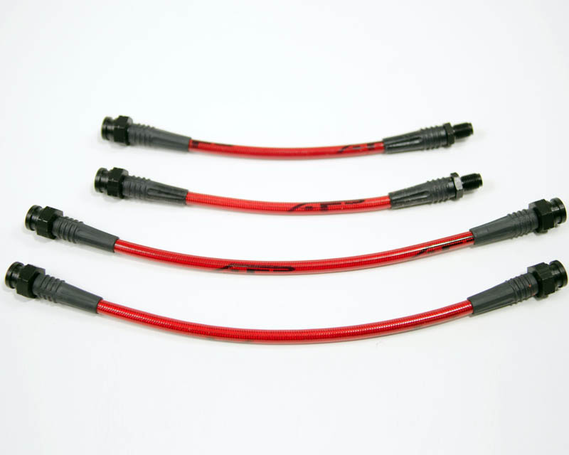 Agency Power Front Steel Braided 4pc Brake Line Kit Mitsubishi Eclipse 89-94
