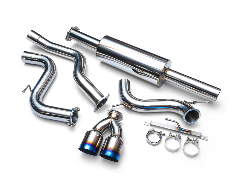 Agency Power Stainless Steel Catback Exhaust with Dual Titanium Tips Ford Focus ST 13-19 - AP-FST-170-2