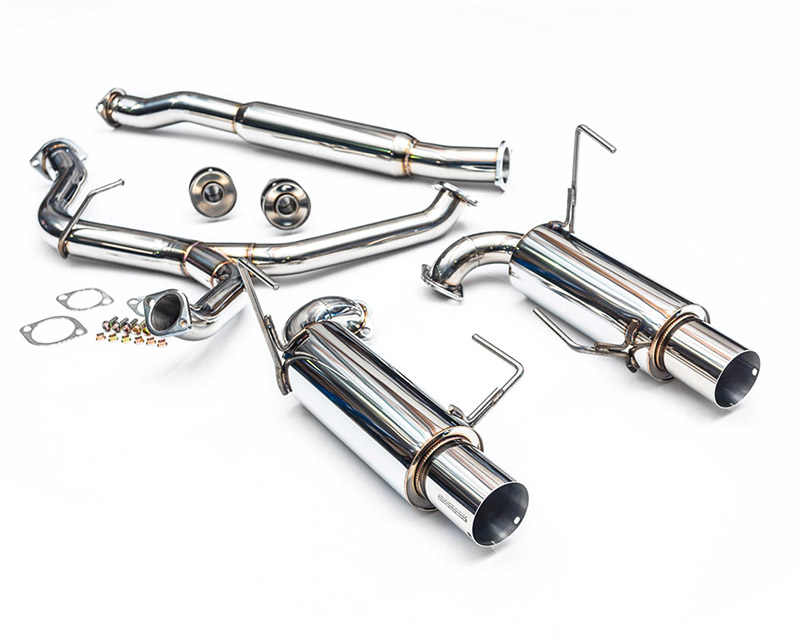 "Agency Power Catback Exhaust System with Dual 4"" Stainless Steel Tips Subaru WRX STI Sedan 08-17 - AP-GE-170S"