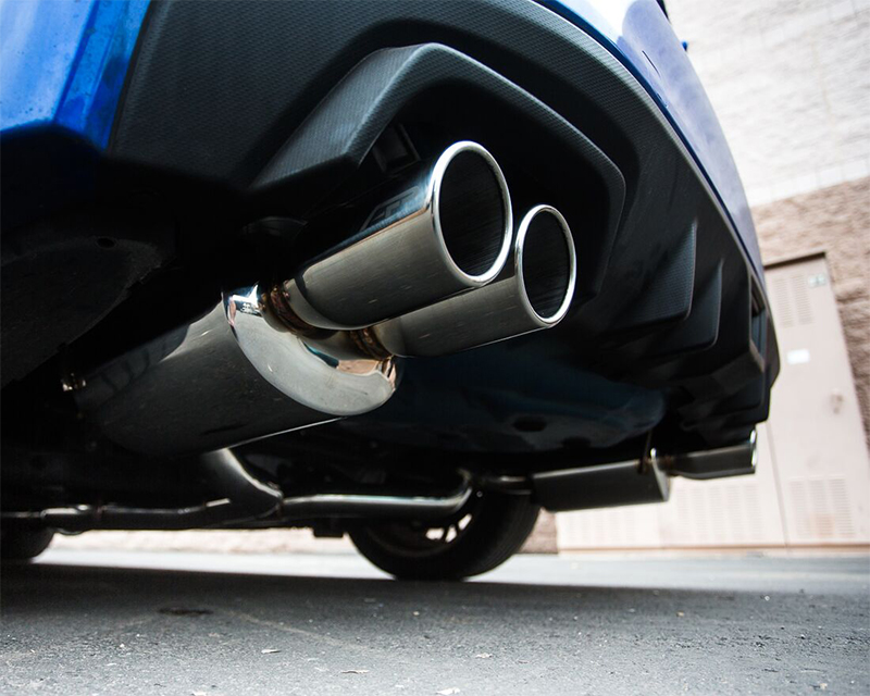 Agency Power Catback Exhaust System Polished Quad Tips Subaru WRX STI Sedan 11-17