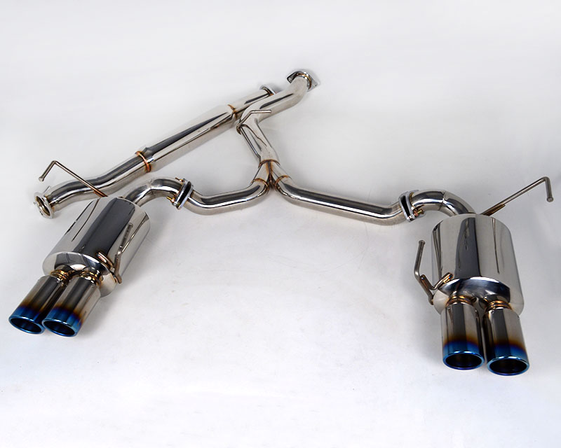 Agency Power Catback Exhaust System Titanium Quad Tips Subaru WRX STI Sedan 11-18