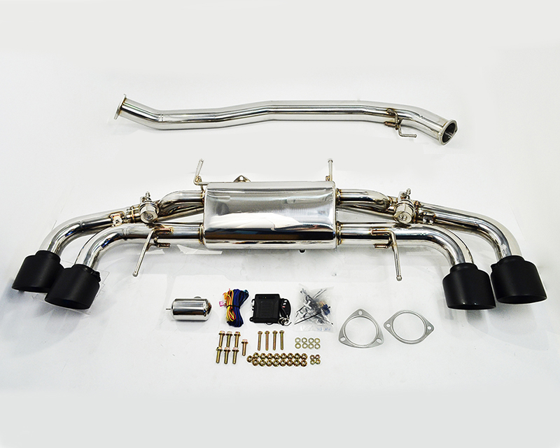 Agency Power Electronic Valve Controlled 90mm Exhaust Muffler with Matte Black Tips Nissan GT-R R35  09-20 - AP-GTR-170MB