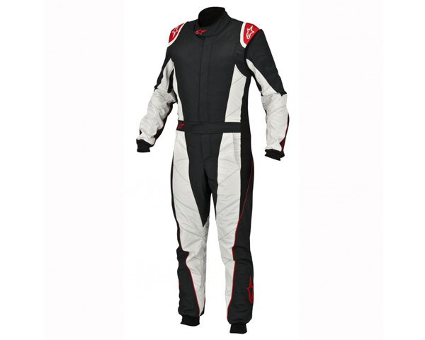 Image of Alpinestars GP Pro Racing Suit Black Red Silver