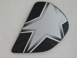 Image of Arai Astral-X Star Flag Silver Side Pods