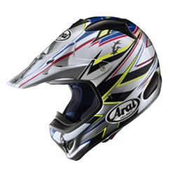 Image of Arai VX-Pro3 Barbed Wire Silver Helmet XL
