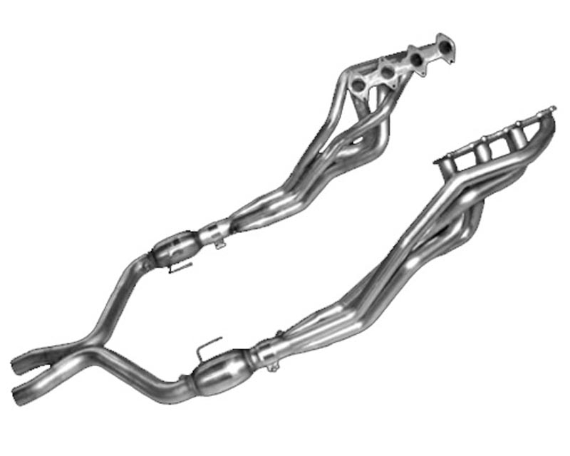 American Racing 1 3/4 x 2 1/2 Headers w/ 2 1/2 Cat-less X-Pipe Ford Mustang GT 4.6L 05-10