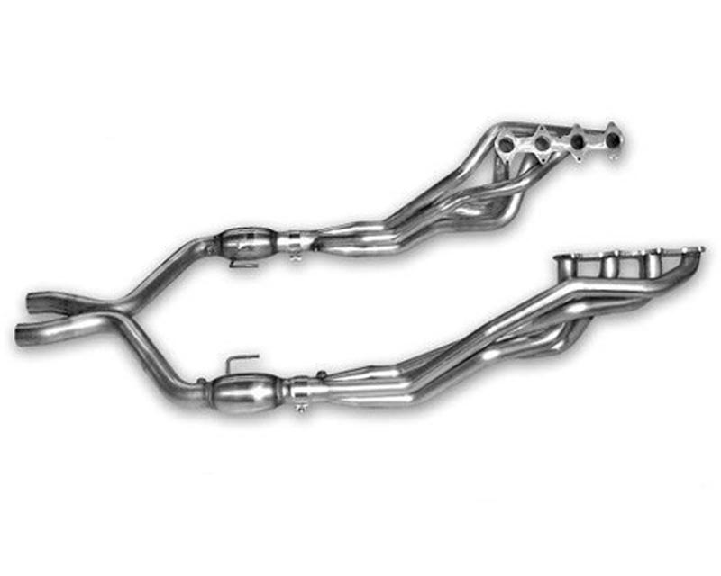 American Racing 1 3/4 x 3 Headers w/ 3 Catted X-Pipe Ford Mustang GT 5.0L 11-13 - MTC5-11134300LSWC
