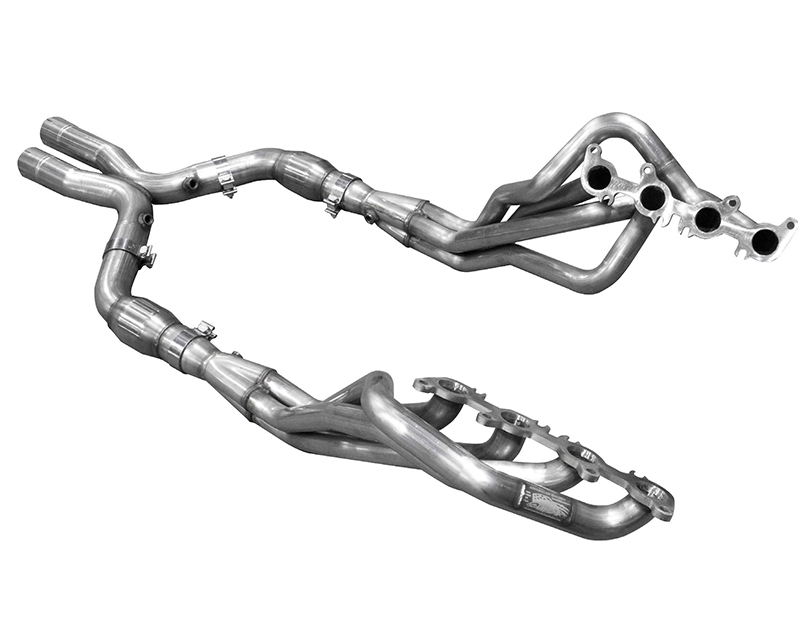 American Racing Bottle Neck Eliminator 1-7/8 Inch x 3 Inch Headers 3 Inch X-Pipe with Cats Ford Mustang GT 2015 - MTC5-15178300BEXWC