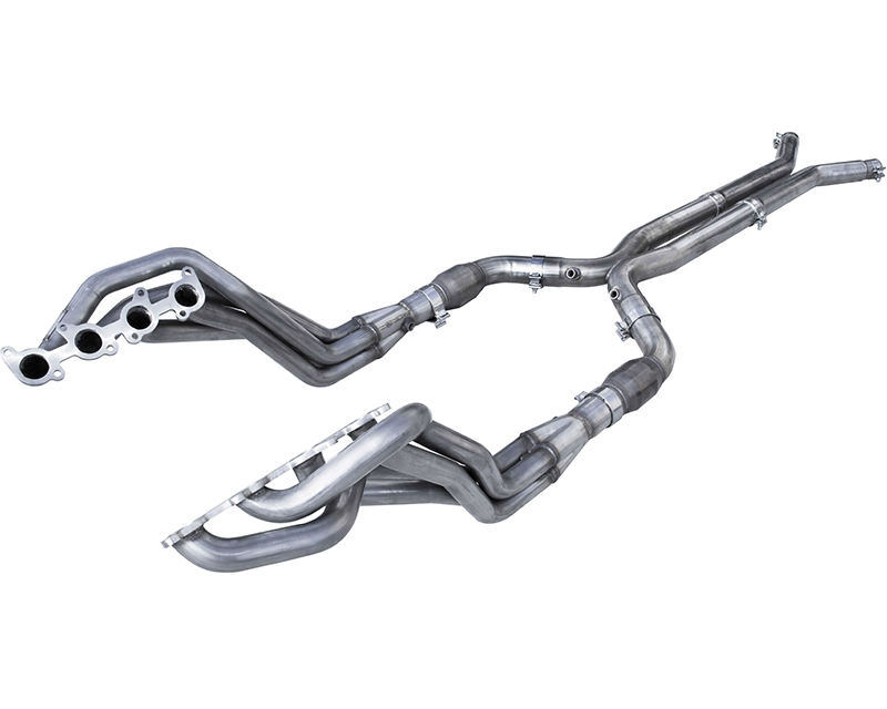 American Racing Long System 1-3/4 Inch x 3 Inch Headers 3 Inch X-Pipe with Cats Ford Mustang GT 2015 - MTC5-15134300LSWC