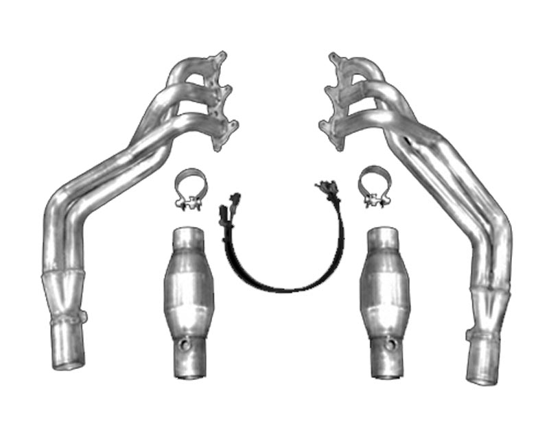 American Racing 1 3/4 x 2 1/2 Headers w/ 2 1/2 Catted X-Pipe Chevrolet Camaro V6 10-13 - CAV6-10134212LSWC