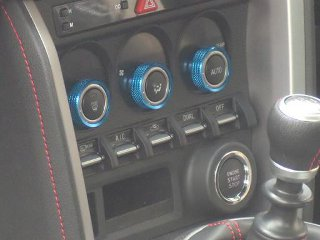 Image of Arrows Air Conditioning Dial Caps Blue Color Toyota GT86 Scion FR-S 13