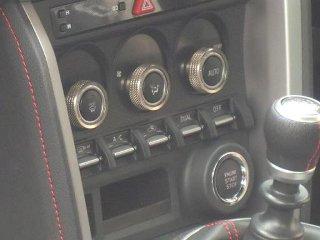 Image of Arrows Air Conditioning Dial Caps Titanium Color Subaru BRZ 13