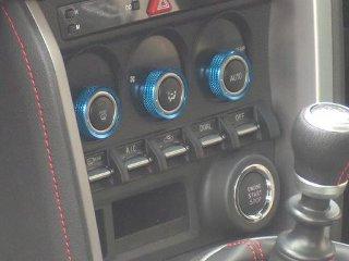Image of Arrows Air Conditioning Dial Caps Blue Color Subaru BRZ 13