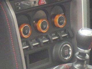 Image of Arrows Air Conditioning Dial Caps Orange Color Subaru BRZ 13