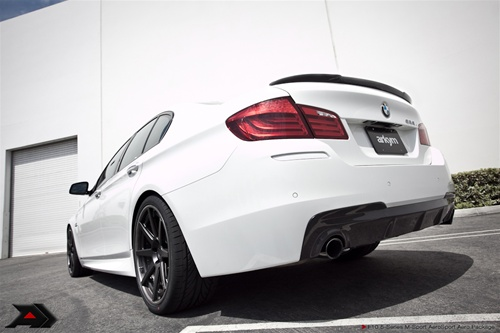 Arkym Aerosport Single Side Carbon Rear Diffuser Sedan (2x2) Saloon BMW  5-Series M-Sport F10 09-13 - F10-RDS-1Cx