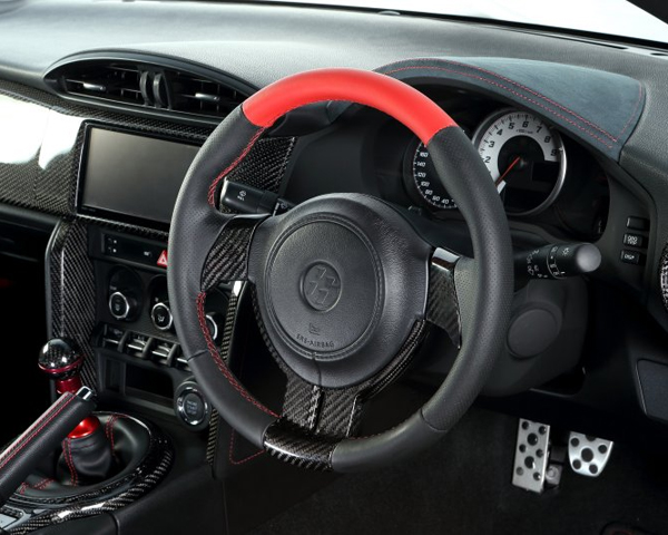 Image of ATC Sport Steering Wheel Natural Leather with Red Top Scion FR-S 13-14