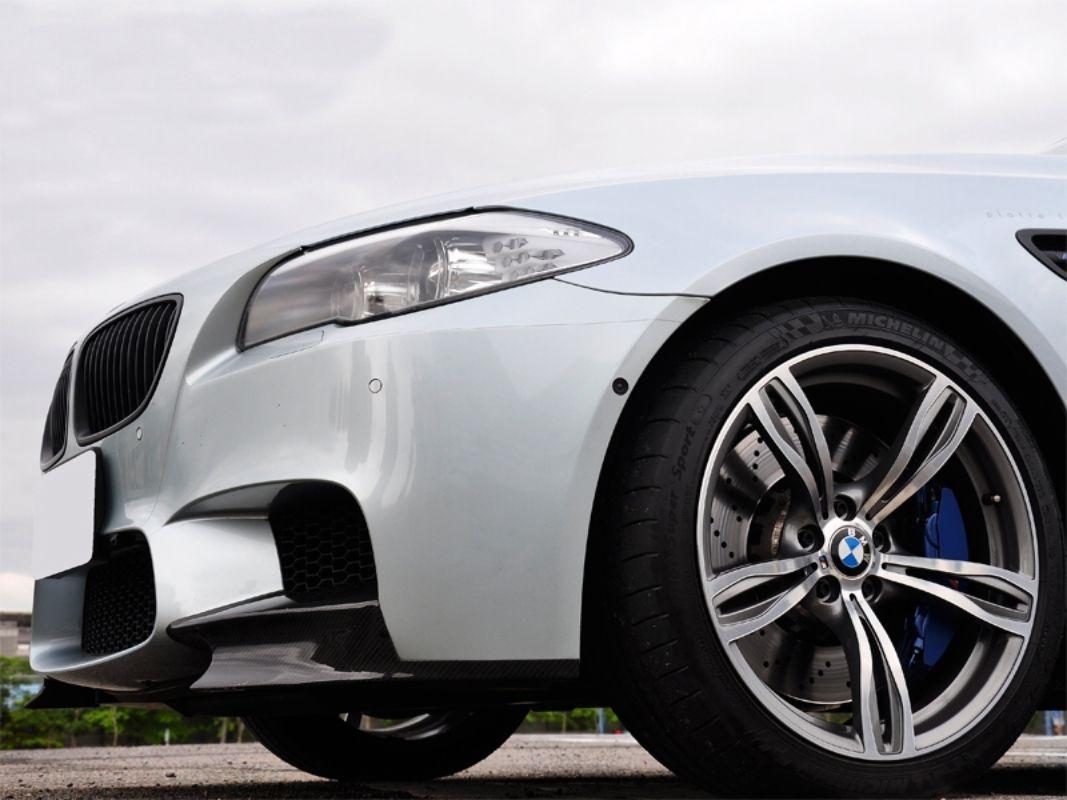 AutoTecknic Performante Vacuumed Carbon Fiber Aero Splitters BMW M5 F10 2012-2017 - ATK-BM-0015