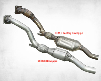 Milltek Downpipes w/High Flow Cats Audi RS4 V8 06-08