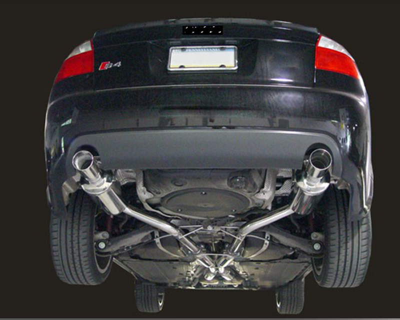 AWE Tuning Touring Edition Exhaust w/Polished Silver Tips Audi S4 | S4  Avant B6 04-05