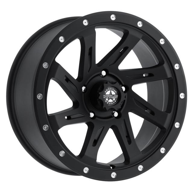 American Outlaw Lawman Matte Black Wheel 17x9 6x135 -10mm - DT-20959