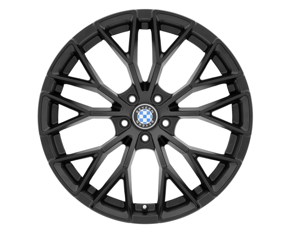 Beyern Antler Matte Black w/ Gloss Black Face Wheel 20x10 5x120 25mm CB74.1 - 2010BYL255120B74