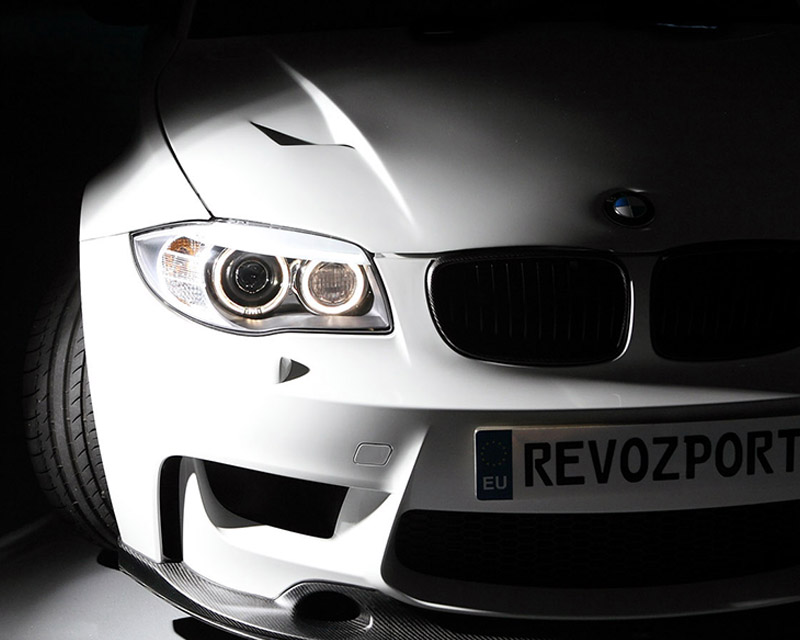 Image of RevoZport 1M Raze Lightweight Bonnet Double Sided Carbon BMW 1 Series E82 08-14