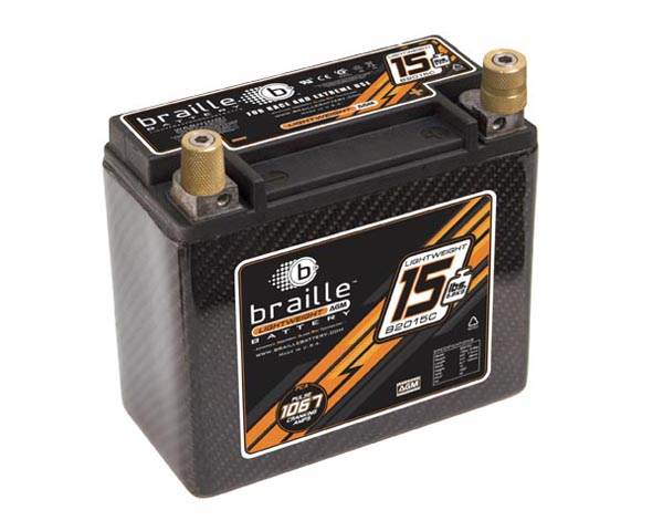 Image of Braille Carbon Fiber Advanced AGM Battery 1067 Amp 7 x 3 x 6 inch Right Positive