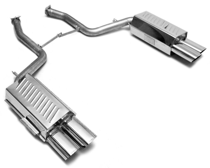 Eisenmann Axleback Exhaust System with Flat Oval Tips BMW E38 750i 95-01 - B5239.00831B