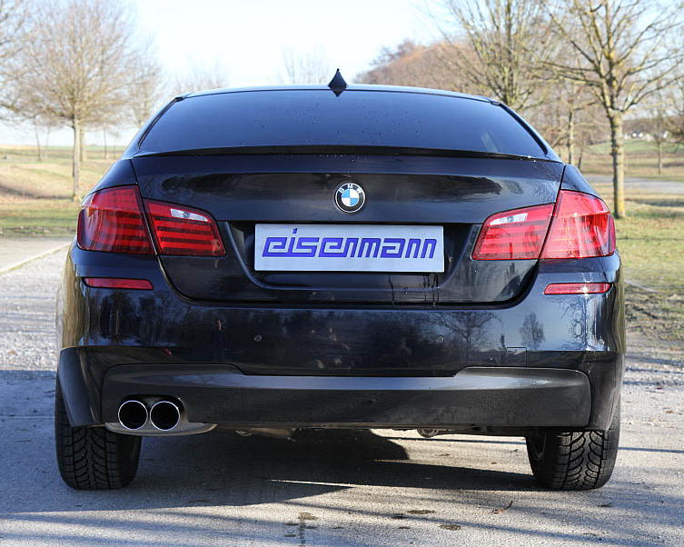 Eisenmann Stainless Axleback Exhaust 2x83mm Round Tips BMW 523i F10 Sedan 10-13 - B5412.00832