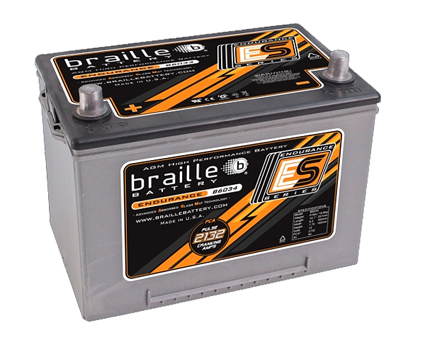 Image of Braille Endurance Advanced AGM Battery 2132 Amp 10 x 6 x 8 inch Left Positive
