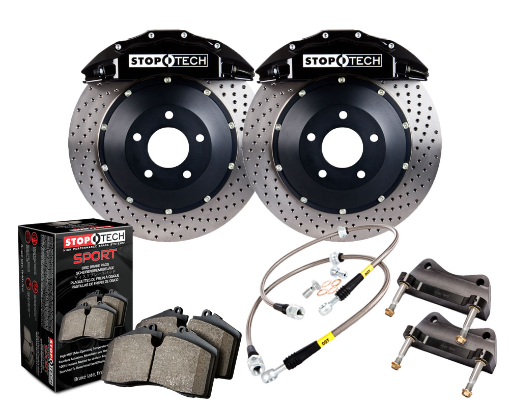 Stoptech Big Brake Kit Front Drilled Black Caliper Chevrolet Suburban 1500 2005