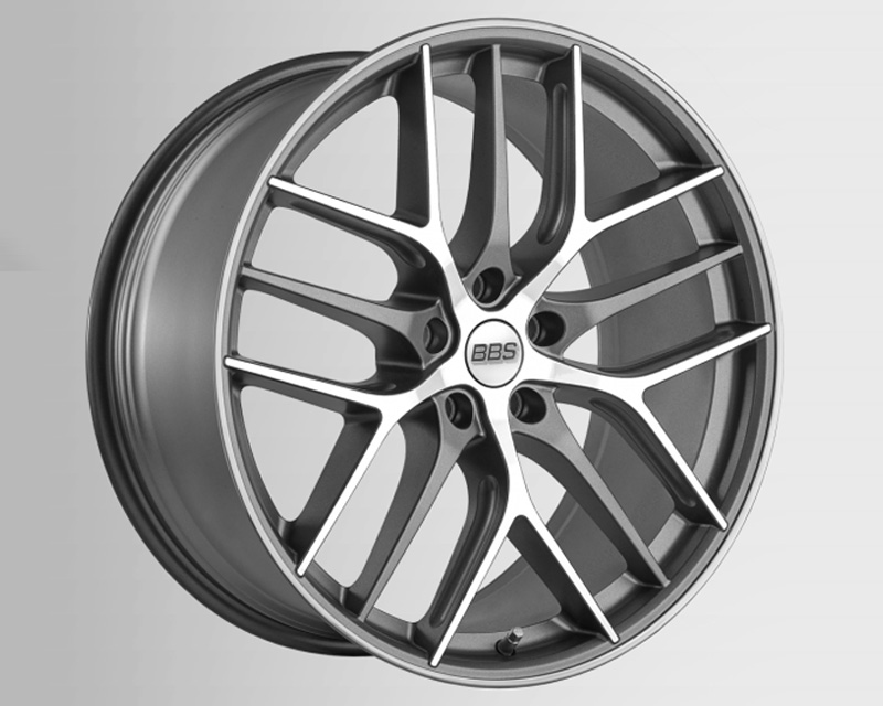 BBS CC-R Wheel 19x10 5x112 48mm Graphite Machined w/Diamond Cut Face CC2401GPK - CC2401GRPK