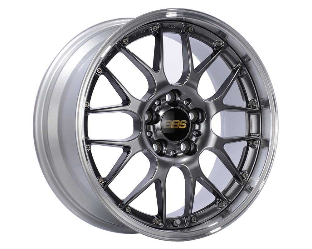 BBS RS-GT Wheel 20x8.5 5x114.3 43mm Diamond Black | Diamond Cut Rim - RS983DBPK