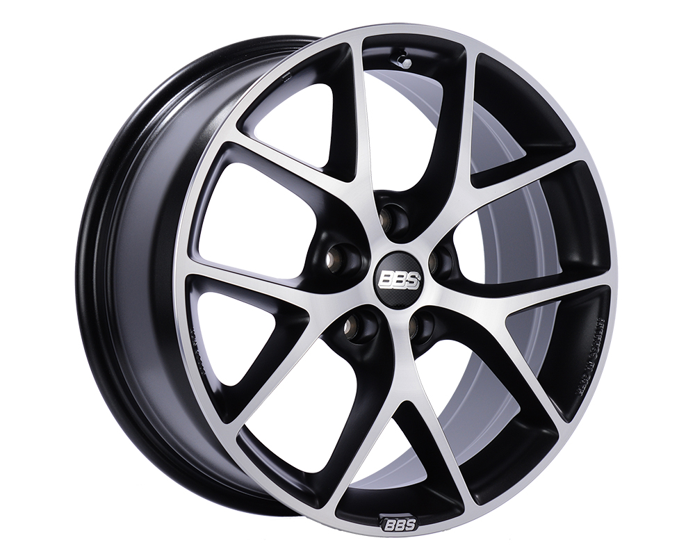 BBS SR Wheel 18x8 5x100 36mm Volcano Grey with Diamond-Cut Face - SR042VGPK