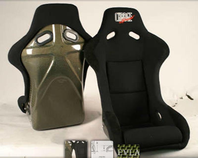 ChargeSpeed Racing Seat Shark Type Kevlar Black (Japanese Kevlar) - BC-HK01